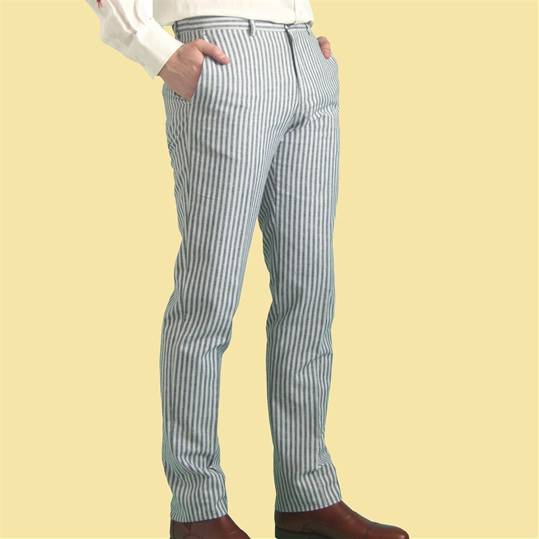 'Henley' Blue Stripe Trouser