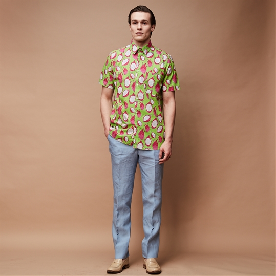 Green Dragon Fruit Short Sleeve Shirt