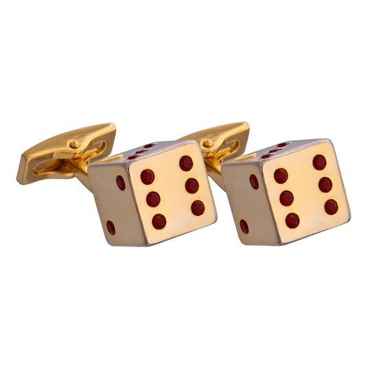 Gold Dice Cufflinks