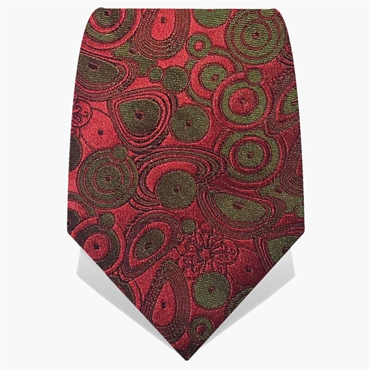 Red & Green Circles Tie