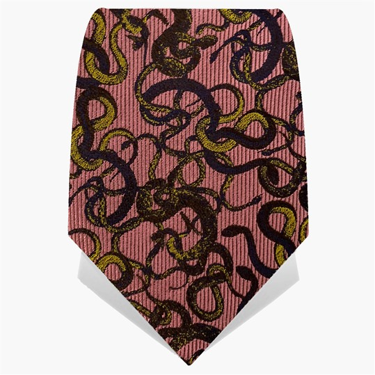 Pink Knot Of Snakes Tie