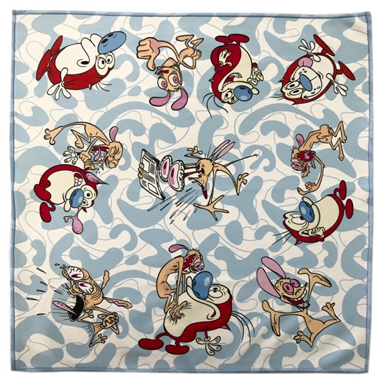 Ren And Stimpy Microfiber Pocket Sqaure
