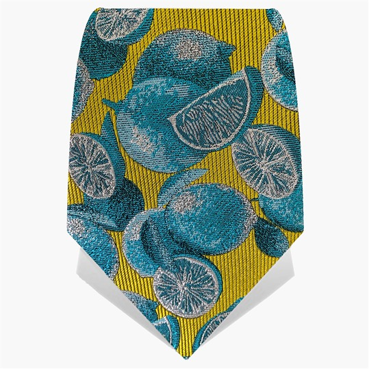 Yellow & Turquoise Limes Tie