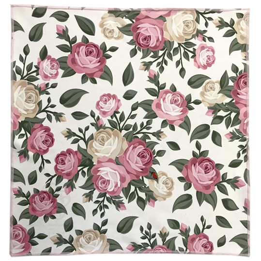 Romantic Rose Microfiber Pocket Square