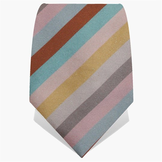 Candy Stripe Tie Pale Pink