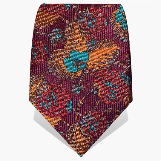 Purple & Turquoise Strawberries Tie