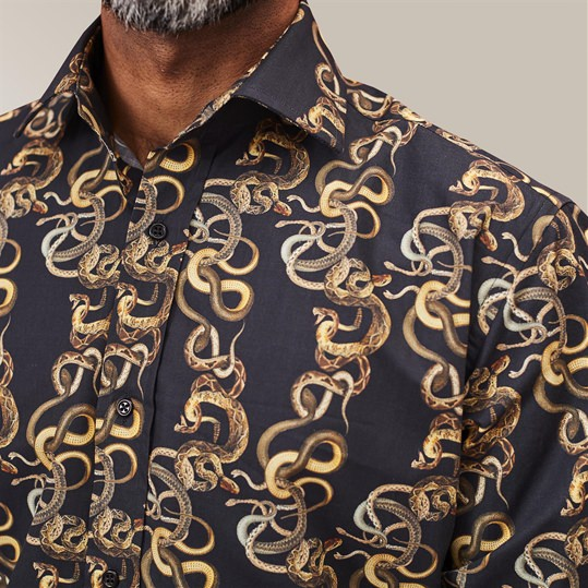 Black Knotted Snakes Shirt