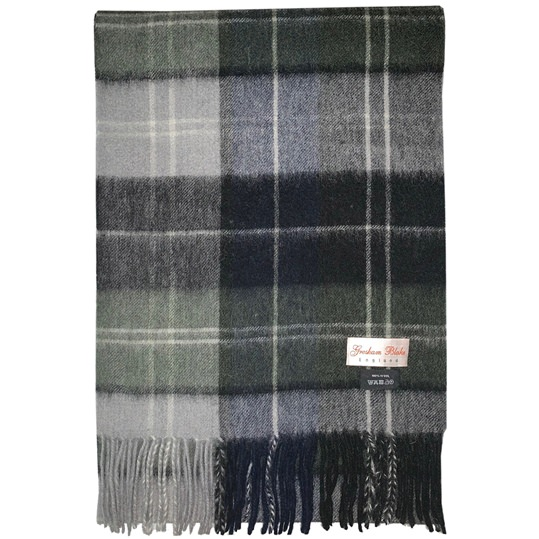 Green & Grey Checked Scarf