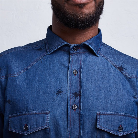 Spiders Denim Shirt