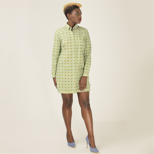 Womens Blue Tit Shirt Dress