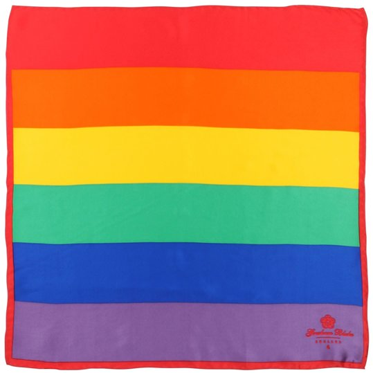 Rainbow Stripe Silk Pocket Square