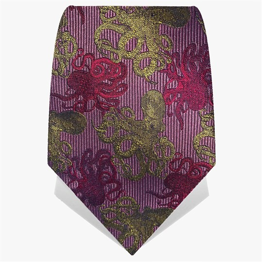 Pink & Yellow Octopus Tie