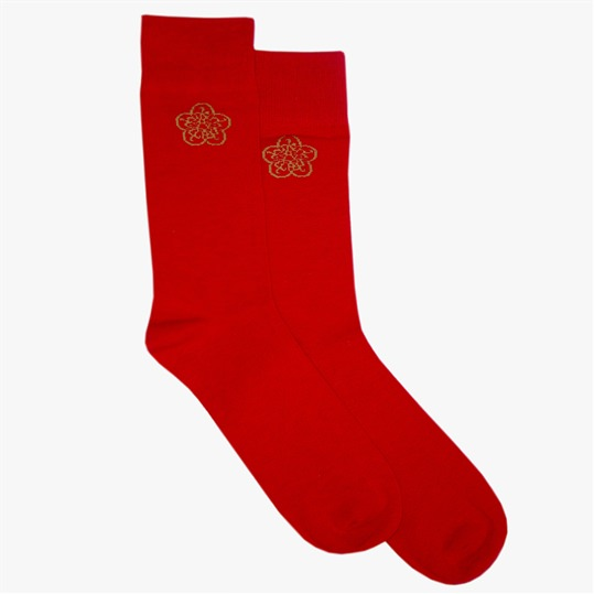Red GB Logo Sock
