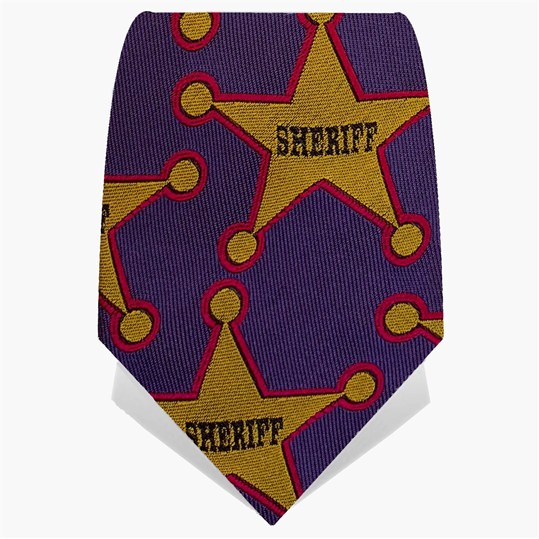 Purple & Yellow Sheriff Tie