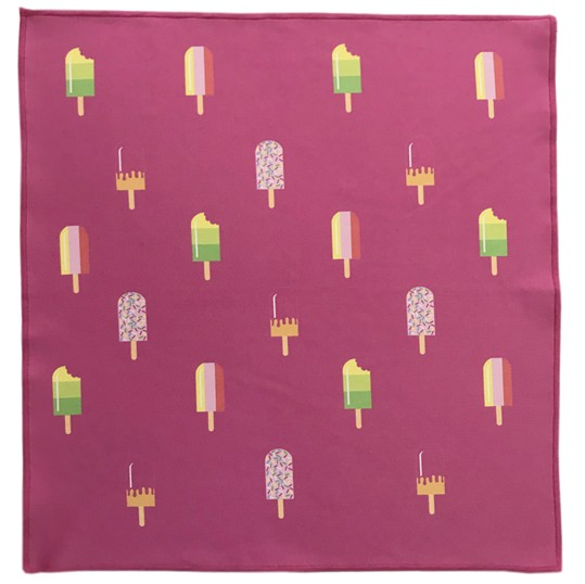 Pink Fabtastic Ice Lolly Microfiber Pocket Square