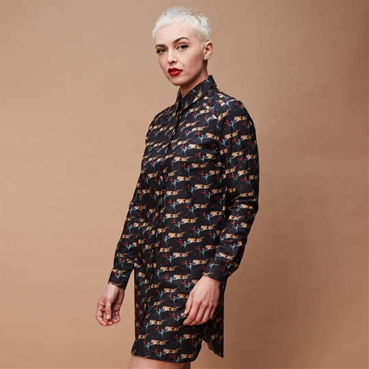 Wild Leopard Shirt Dress