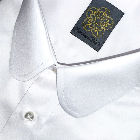 White Penny Collar Shirt