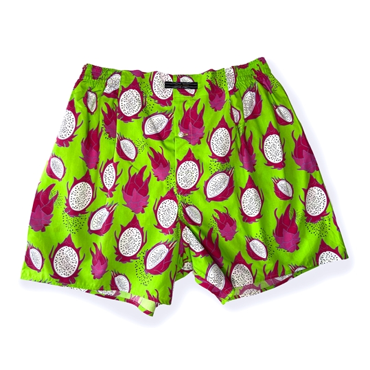 Green Dragon Fruit Boxer Shorts