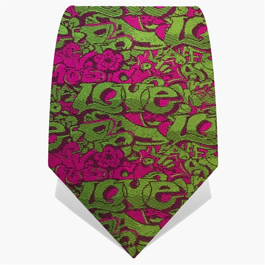 Pink & Green Graffiti Tie