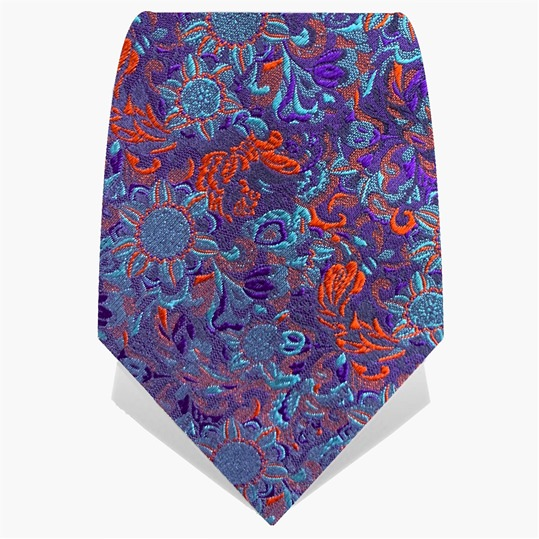 Blue & Orange Psychedelic Crow Tie