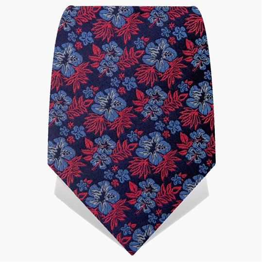 Navy Small Flowers Tie