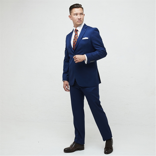 Admiral Blue Wool 2 Piece Suit