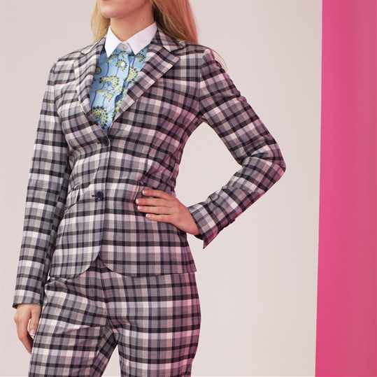 Ladies Gingham Jacket