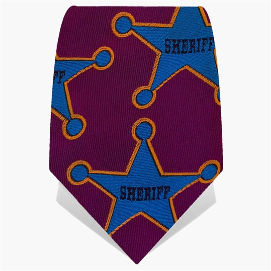 Purple & Blue Sheriff Tie