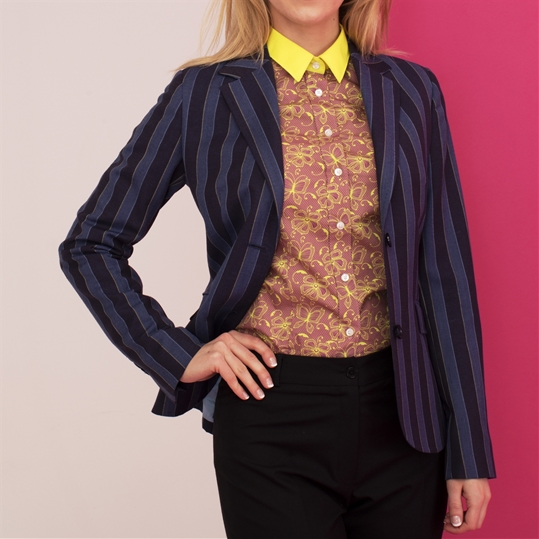 Ladies Blue Stripe Boating Blazer
