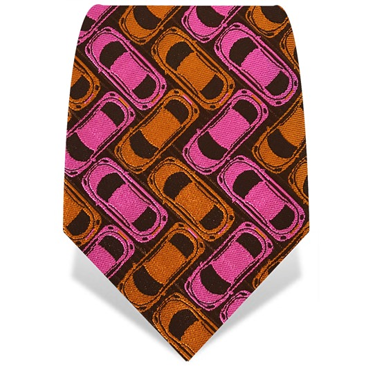 Pink & Orange Car Park Tie