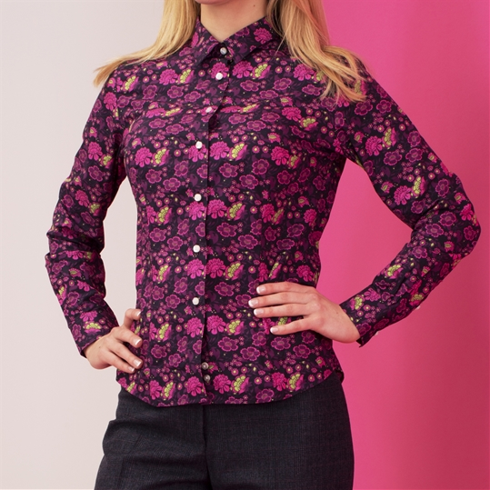Ladies Pink Floral Shirt