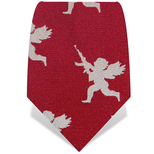 Red and White Cherub Tie
