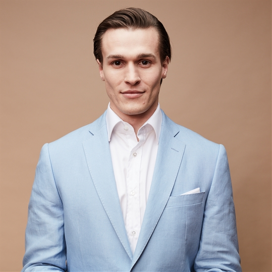 Light Blue Linen 2 Piece Suit