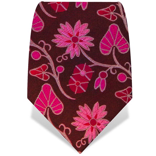 Brown and Pink Wonderland Tie
