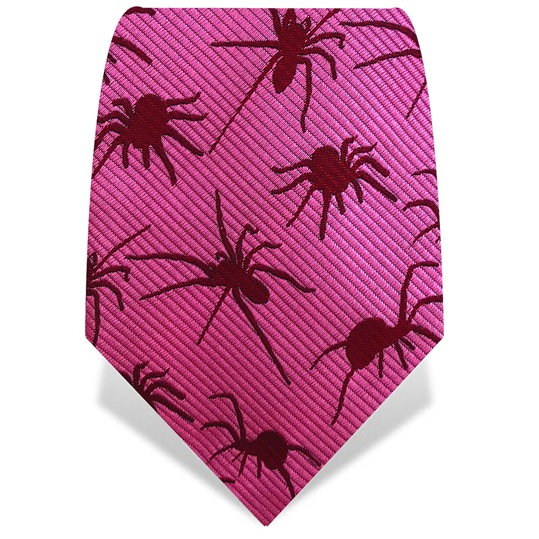 Pink & Red Spiders Tie
