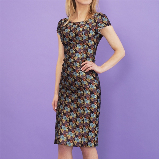 Womens Silk Floral Dress