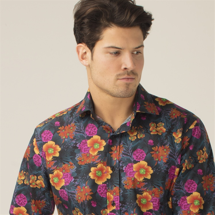 'Leilas' Florals At Night Shirt