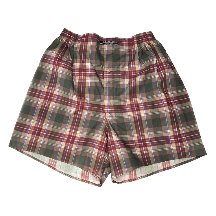 Brown Tartan Boxer Shorts