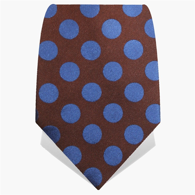 Brown & Blue Spotted Tie