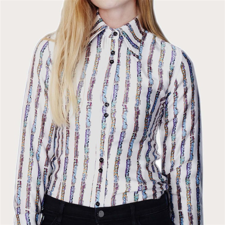 Womens Silk Train Shirt