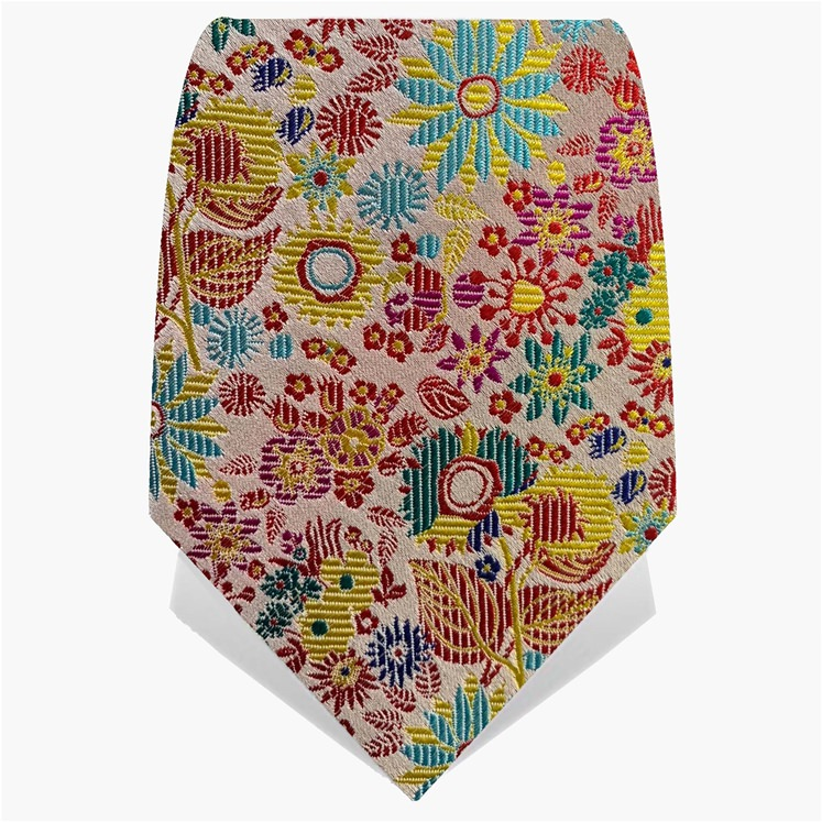 Red & Turquoise Illuminated Flower Tie