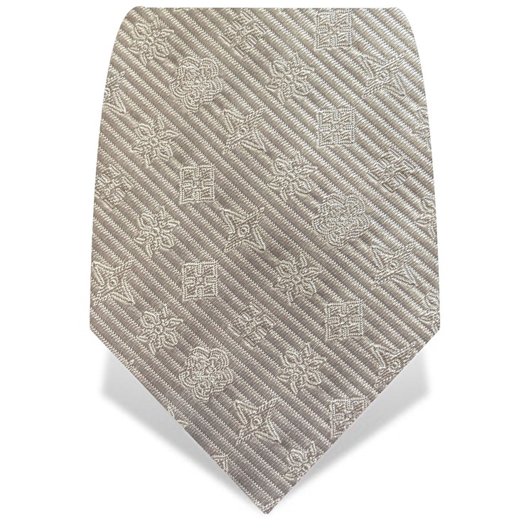 White Throwing Stars Tie