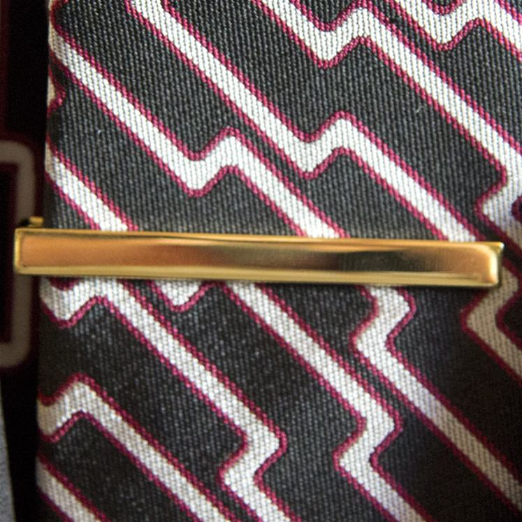 Gold Plain Tie Bar
