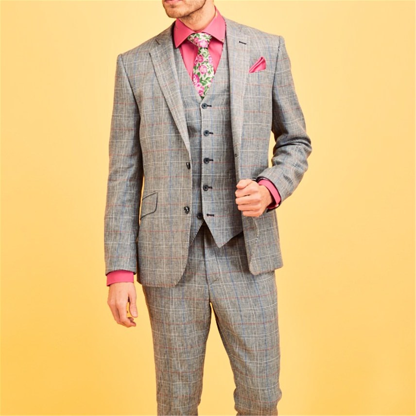 'Miami' Blue Check Suit
