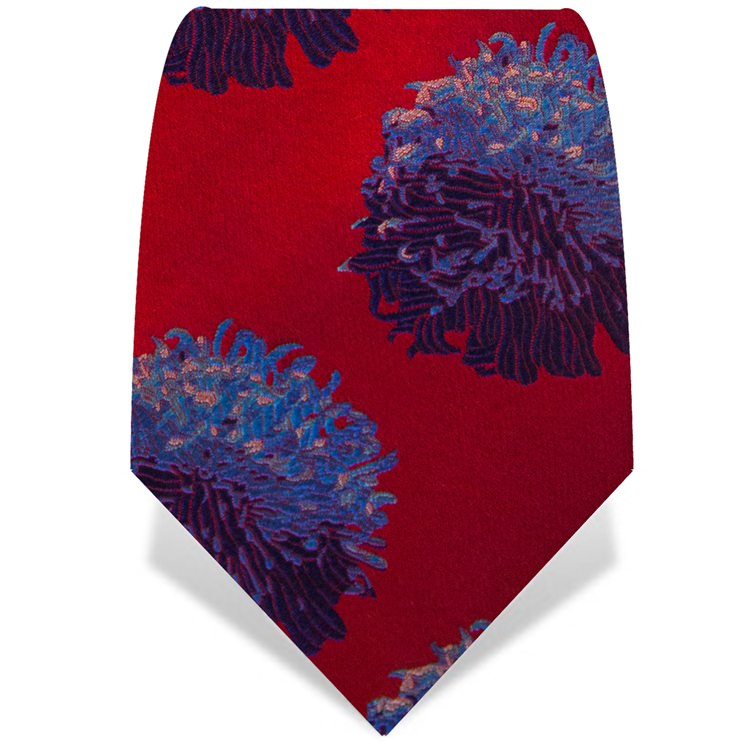 Red Abstract Flower Tie
