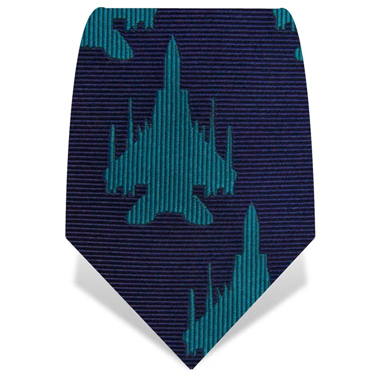 Blue and turquoise Plane Tie