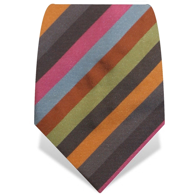 Dark Pink Candy Stripe Tie