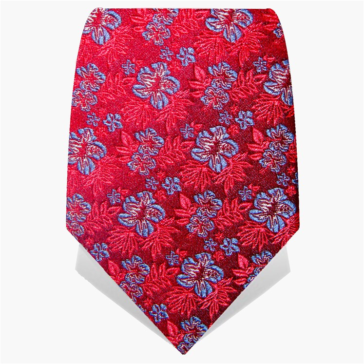 Crimson Small Flower Tie