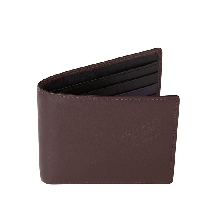 Brown and Black Leather Wallet
