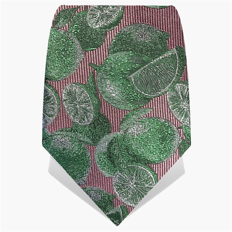 Pink & Green Limes Tie